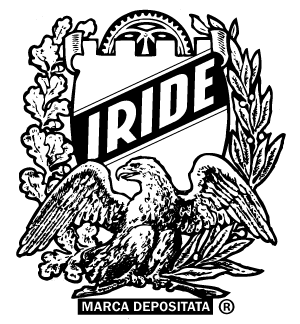 The original shield and eagle coat of arms logo for Iride, Fine Italian Bicycles.