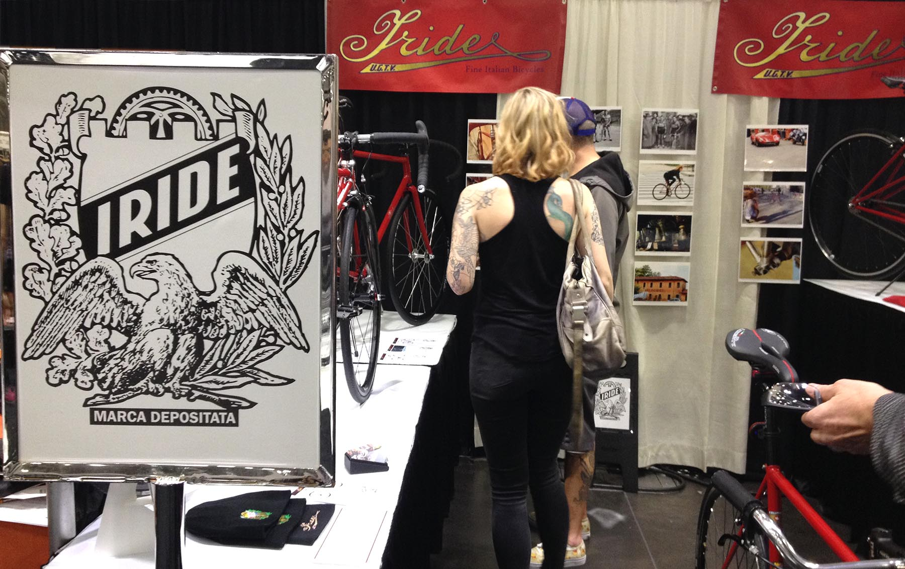 Distingushed admirers are attracted to Iride bicycles.