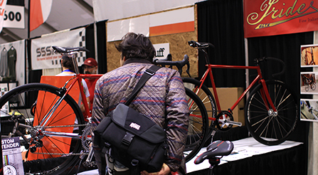 photo of best bike contest winner Iride, Fine Italian Bicycle display at North American Handmade Bicycle Show