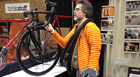 A view of IRIDE italian booth at NAHBS North American Handmade Bicycle Show urban bikes