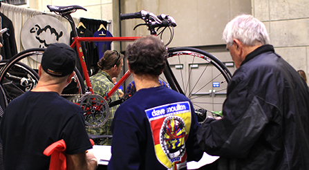 photography of Iride, Fine Italian Bicycle display at North American Handmade Bicycle Show
