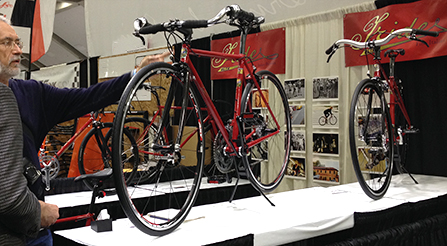 photo of Iride, Fine Italian Bicycle display at North American Handmade Bicycle Show 2