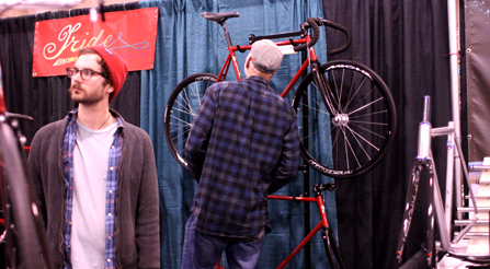 photo of Iride, Fine Italian Bicycle display at North American Handmade Bicycle Show 2014, Charlotte, North Carolina