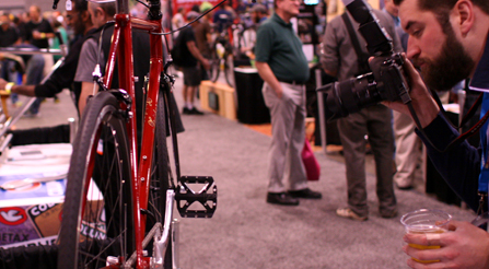 photography of Iride, Fine Italian Bicycle display at North American Handmade Bicycle Show 2014, Charlotte, North Carolina