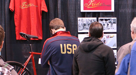 study-of-Iride-USA-historical-photos-velodrome-racers-in-Italy-and-New-York-City-bicycle-riders-IRIDE-usa-booth-comes-together-at-north-american-handmade-bicycle-show-2012-denver