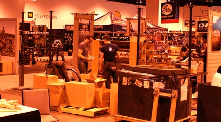 load-in-at-north-american-handmade-bicycle-show-2013-denver-nahbs-chris-king-gates-belt-drive-brooks-conti