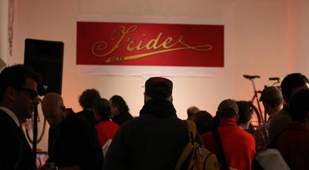 Many bicycle fans go to see Iride at the bicycle trade show in NYCf-bike-expo-nyc-gran-fondo-tour-trade-show-urban-bicycles-high-performance-noncompetitive-street-bikes-IRIDE-Italian-sweet photo