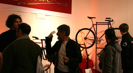 study-of-Iride-USA-n-satisfied-customer-at-the-bicycle-trade-show-New-York-City-Iride-urban-bikes-by-gemmati-velocipedi-cool-nyc-trade-show-iride-bicycles-booth-side-view