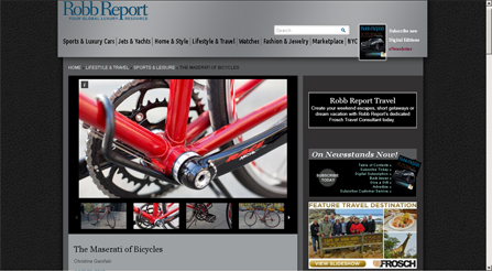 Robb Report Magazine photo about IRIDE high performance and components