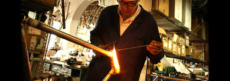 Carlo Gemmati hand brazes each Iride bicycle frame for you photograph